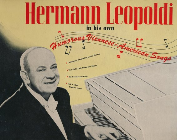 "Albumcover: ""Hermann Leopoldi in his own Humorous Viennese-American Songs"""